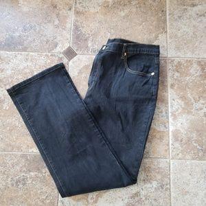 DG2 Womans Black Denim Jeans SZ 16